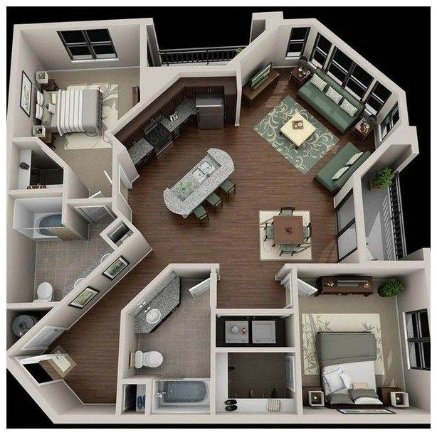 45 Space Saving Ideas To Make Any Small Apartment Feel Cozier 00080 Sims House Plans House Plans Sims House