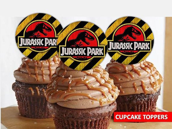 Jurassic Park Cupcake Toppers Printable Party Decor