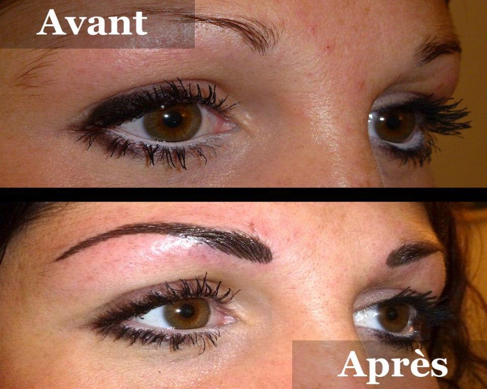 Sourcils poil poil remplissage avant apr s pinterest sourcils maquillage permanent - Maquillage permanent sourcil poil poil ...