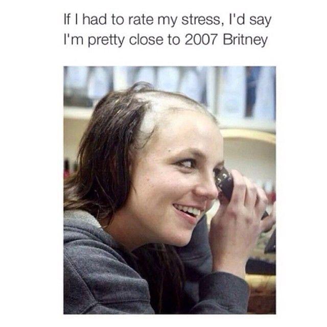Stress Level Head Shave Shaving Meme Stressed Meme Girl Problems