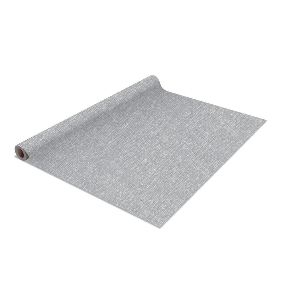 Simplify 2 Pack Linen Self Adhesive Shelf Liner In Grey 26528 Grey