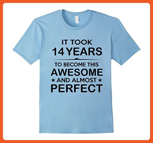 Mens Fourteen 14 Year Old 14th Birthday Gift Ideas For Boy Girl Medium Baby Blue