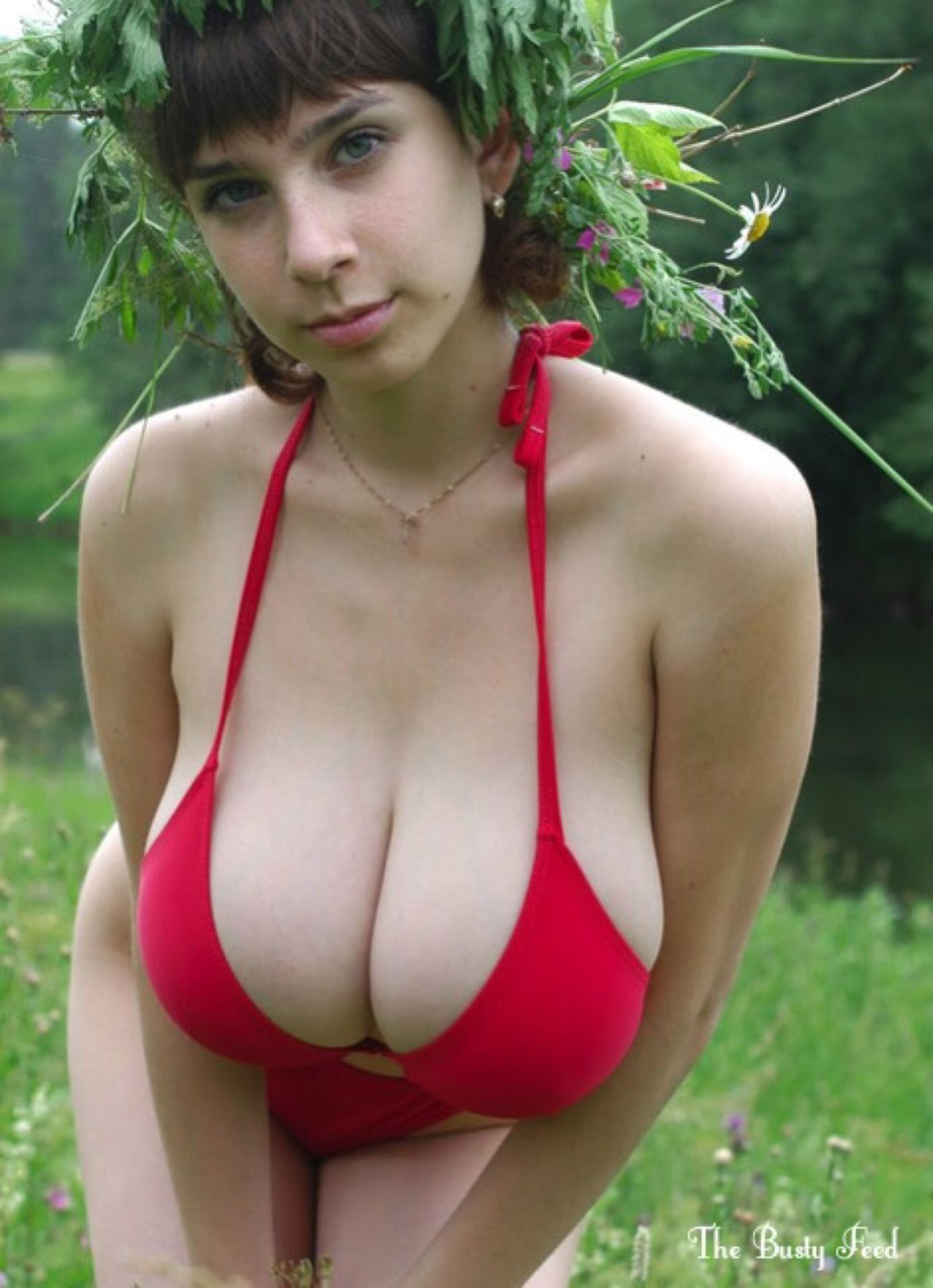 Huge heavy breast