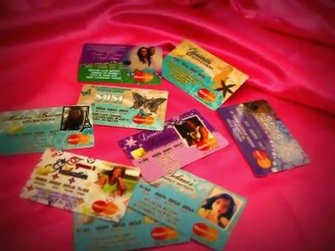 Floral Roses Quinceanera Invitations Credit Card Invitaciones De Tarjeta Credito