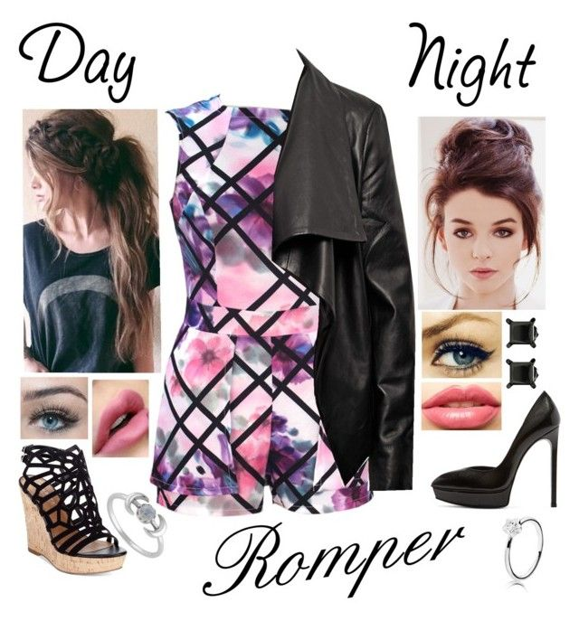 """Romper"" by kaitlynwolf1828 ❤ liked on Polyvore featuring Charles by Charles David, HIDE, Yves Saint Laurent, LASplash, DayToNight and romper"