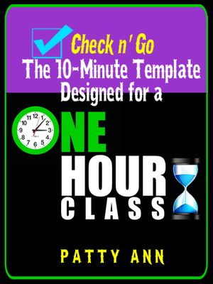 Check N Go Minute Class Plan Template For A Hour Class Is