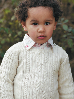 Cable Sweater Pattern Free Download To Fit Ages 0 3 3 6 6 9 9 12
