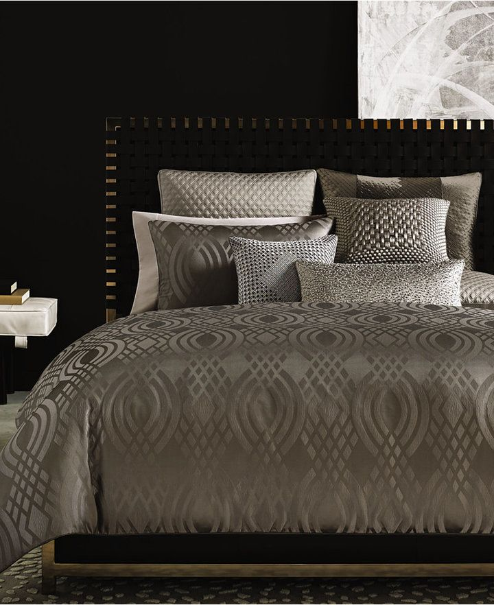Rich In Detail The Hotel Collection Dimensions Coverlet Features A Chic Diamond Pattern For Subtle Styl Hotel Collection Bedding Comforter Sets Luxury Bedding