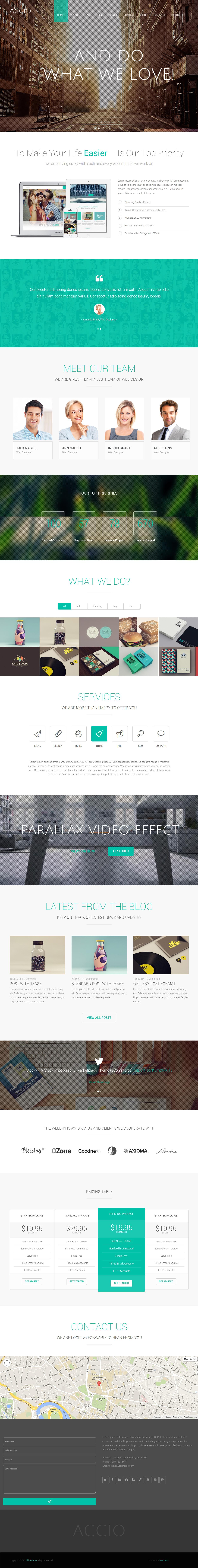 Accio - Premium Responsive One Page Parallax Joomla Template | Video ...