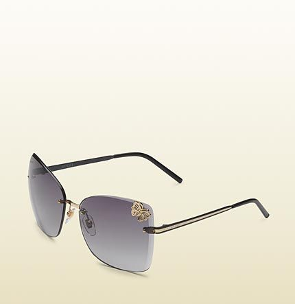 60190960a5 Gucci - medium butterfly frame sunglasses with small filigree butterfly on  lens and gucci logo on temples. 298612I33301241