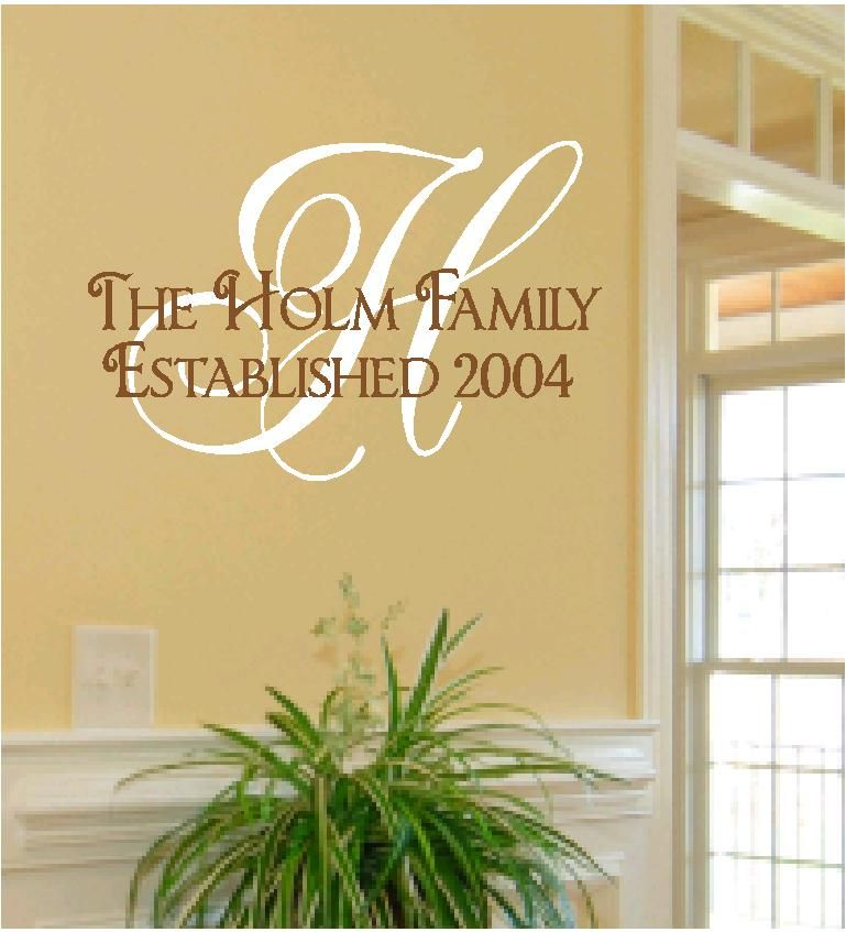Family Established - Personalized Wall Quote | recipe\'s | Pinterest ...