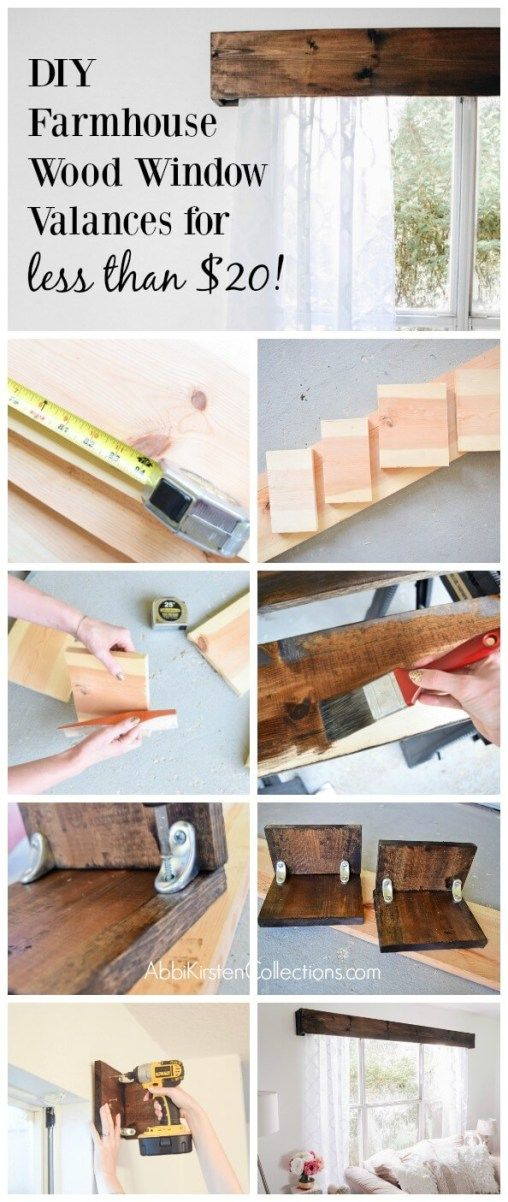 Photo of How to Make Your Own Wood Window Valence with Curtains