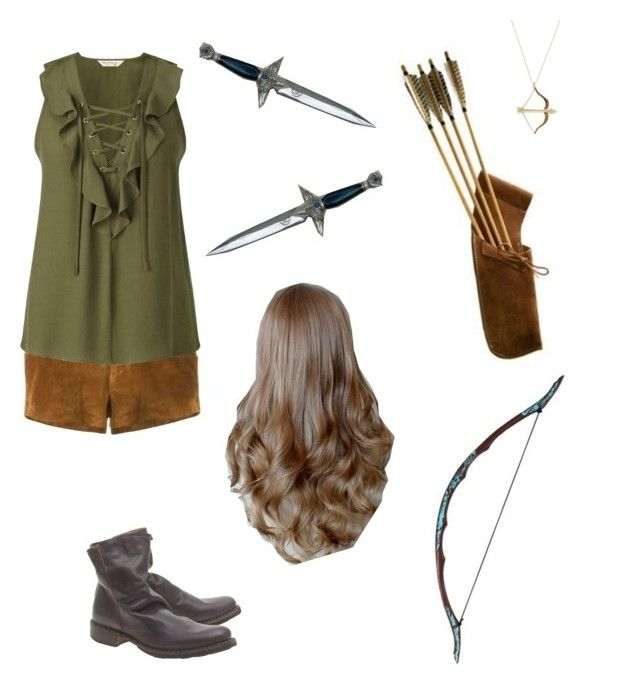 """Casey – Saving Thorin"" by teacupunicorn ❤ liked on Polyvore featuring Au Jour Le Jour, Miss Selfridge, Fiorentini + Baker, Sydney Evan and Bow & Arrow"