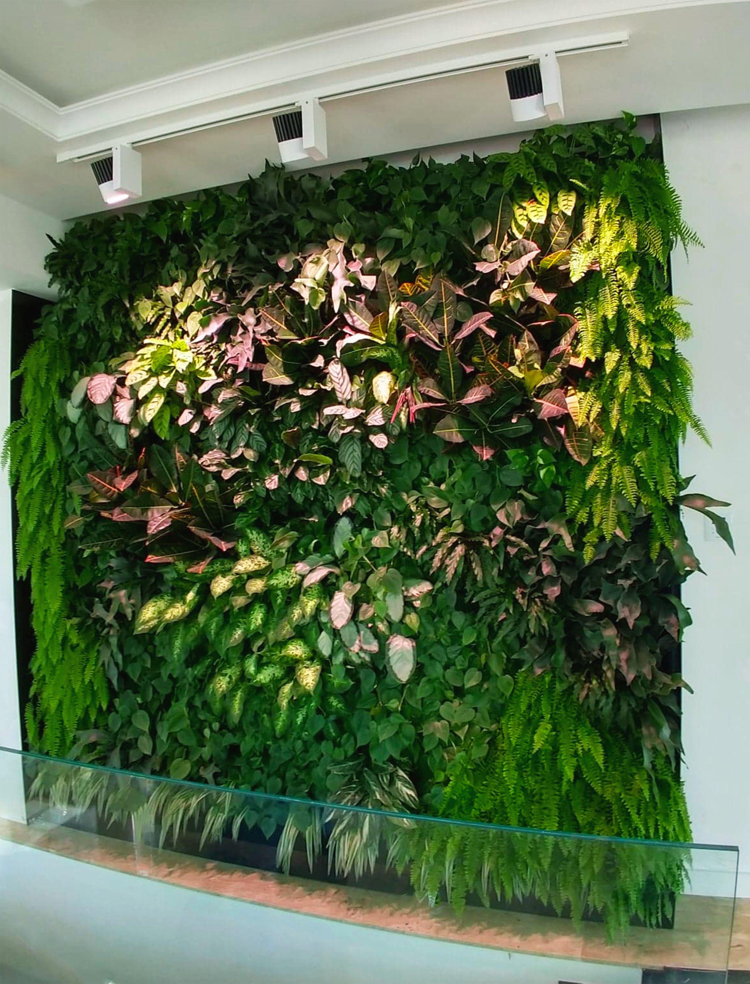 Sciana Z Roslin Ogrod Wertykalny Sciana Wodna Zielona Sciana Green Wall Plants Interior Design Vertical Garden Decor
