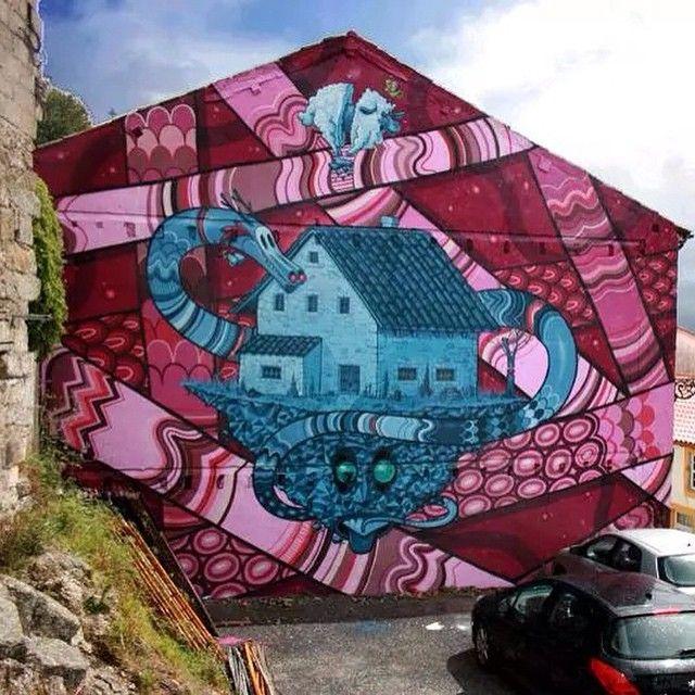 Kram! - Covilhã, Portugal. #kram #covilha #portugal #Graffiti #streetart #kramart #elgraffiti #art #mural @kram_es