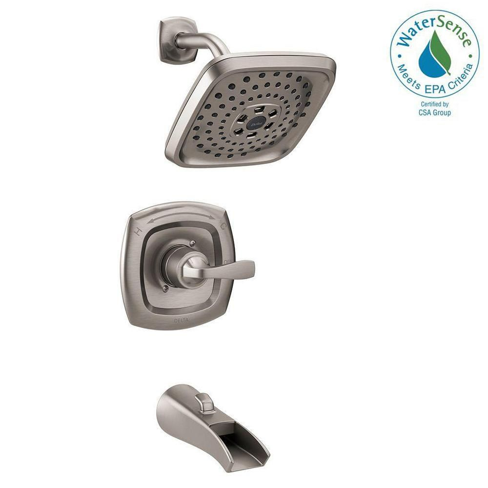 Delta Bathtub And Shower Faucets.Delta Tolva H2okinetic Single Handle 3 Spray Tub And Shower