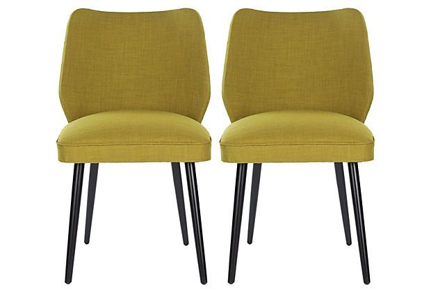 Ochre Ethel Dining Chairs Pair On Onekingslane Com