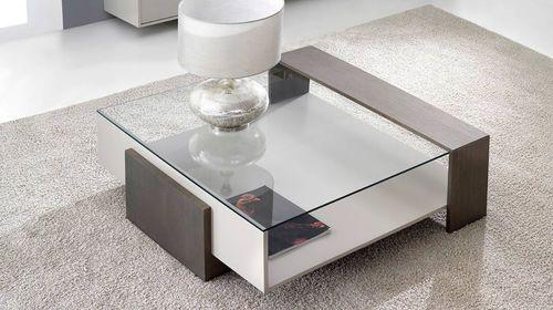 Mesa de centro / moderna / de cristal / con almacenamiento MIJO by ...