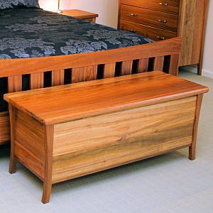 Lynx Blanket Box Made With Blackwood Timber In Tasmania [Toledo Furniture]