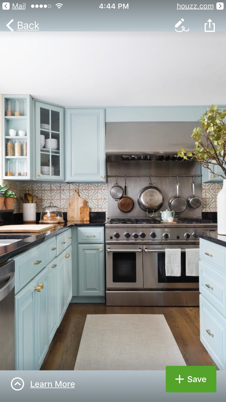Cabinet color: BM Wedgewood Gray | Kitchen | Interior design ...