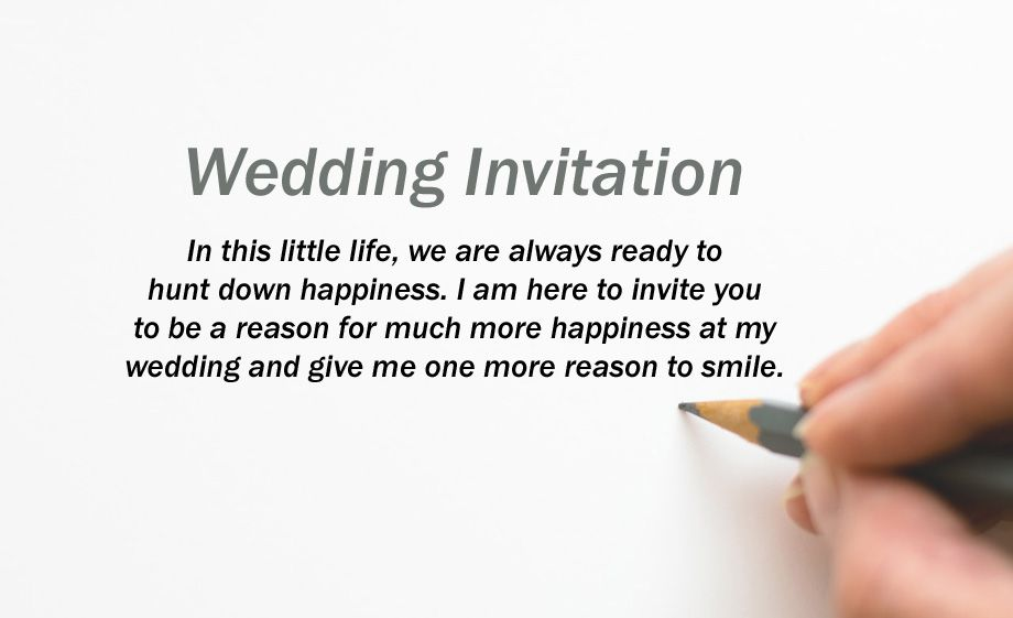 Indian Wedding Invitation Text Message For Friends