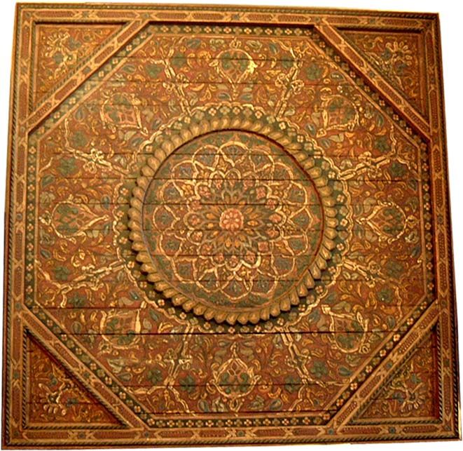 Moroccan painted ceiling 2 in 2018 Colonial Indian, Moroccan