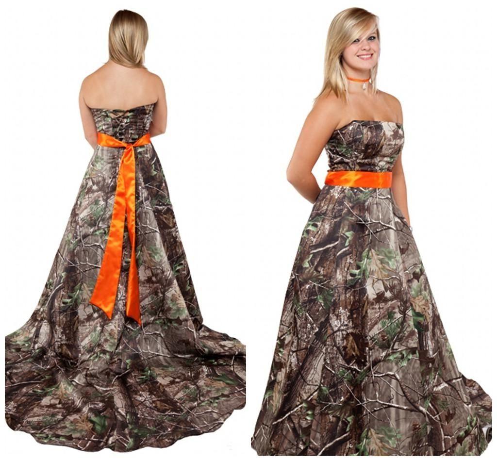 Orange Camo Wedding Dress | Wedding Dress | Pinterest | Camo wedding ...