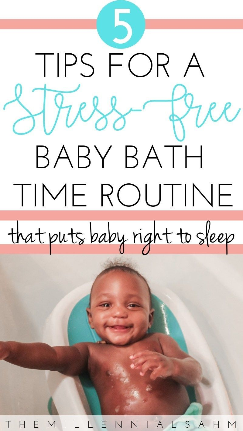 5 Tips For A Stress Free Baby Bath Time Routine The Millennial Sahm Baby Bath Time Baby Bath Free Baby Stuff