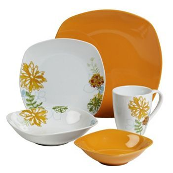 Tabletops Gallery Marigold 20-pc. Dinnerware Set  sc 1 st  Pinterest & Tabletops Gallery Marigold 20-pc. Dinnerware Set | Kitchen Thoughts ...