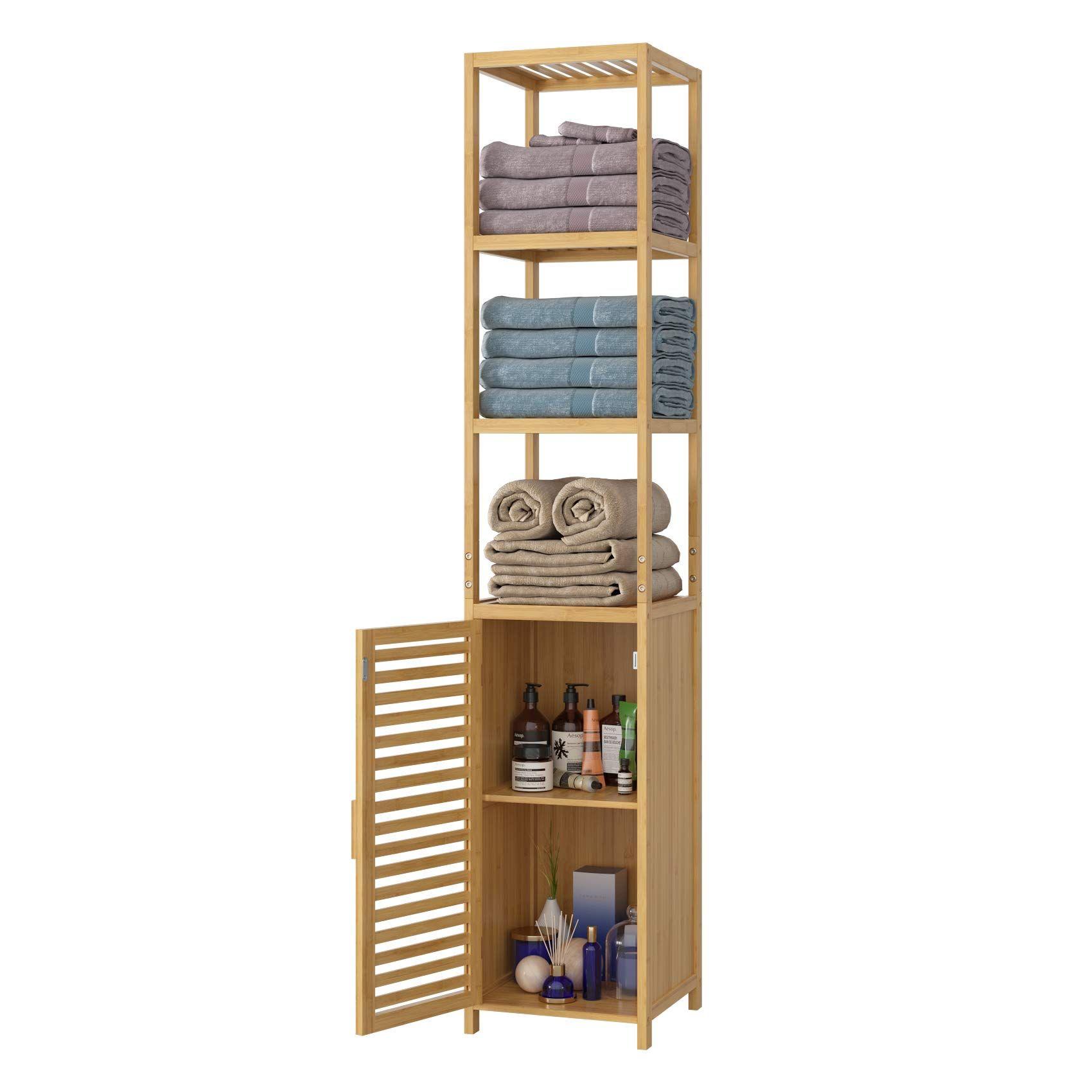 Bambus Badezimmer Standregal Lamell