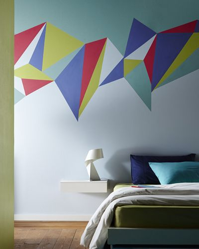 Wall Paint Designs With Tape   Google Search
