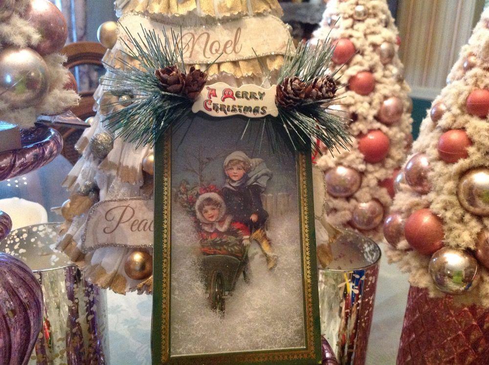 Bethany Lowe Christmas Ornaments.Bethany Lowe Christmas Traditional Shadowbox Ornament