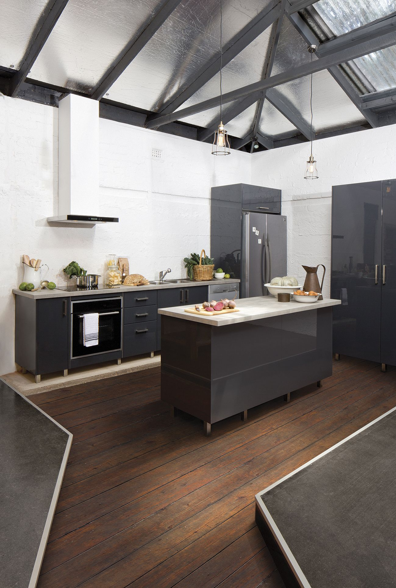 Best Flat Pack Kitchens Gallery Warehouse Appeal Industrial 640 x 480