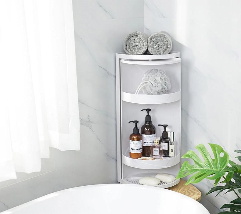 Rotating 360 Degree Bathroom Shampoo Holder In 2020 Rack Shelf Bathroom Storage Shelves Bathroom Shelves