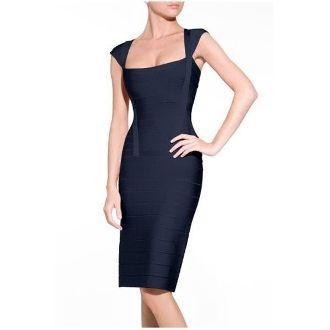 Dark Blue Boatneck Dress