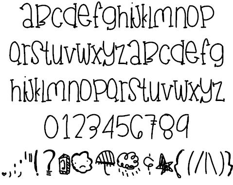 JuneGloom Font | Cute fonts alphabet, Hand lettering ...