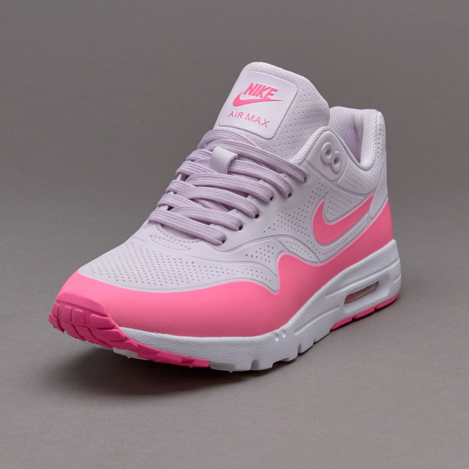 Nike Women -  Nike Air Max 1 Ultra Moire Running Shoes in Bleached Lilac/Pink Blast/White