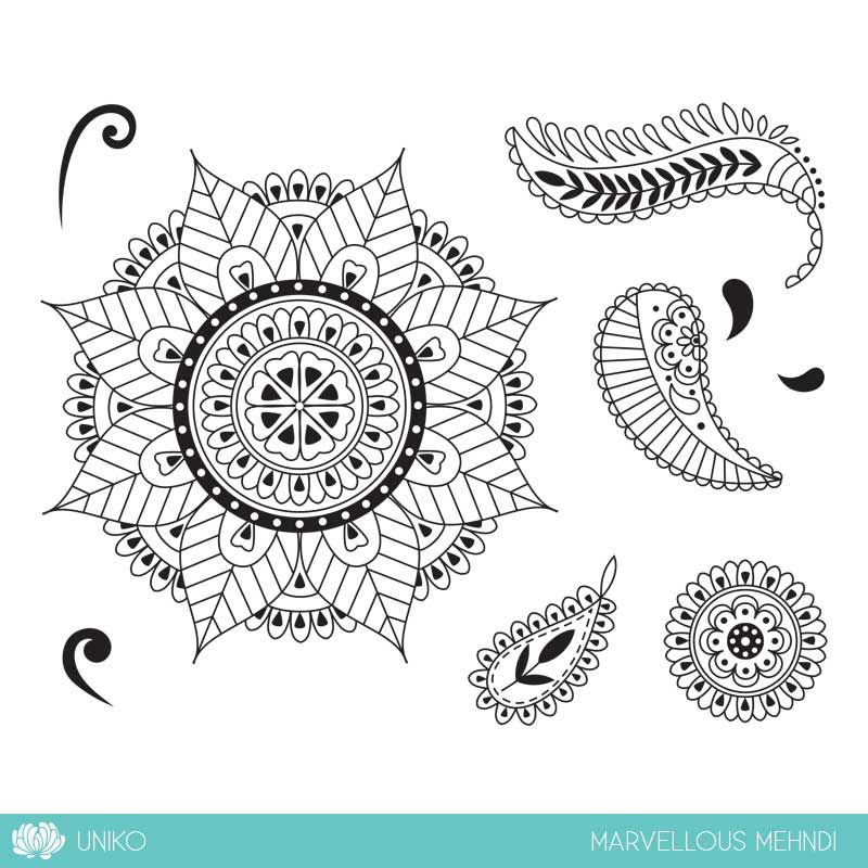 Another 2017 trend designed clear stamp set called Marvellous Mehndi. This style has been around in the paper crafting industry for a while, but is set to be a popular trend again. With the modern style and coordinating elements to other Uniko clear stamp sets this set will provide a multitude of possibilities. Stamp Dimensions:- …