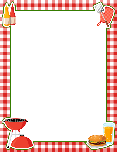 BBQ Border: Clip Art, Page Border, and Vector Graphics on ...