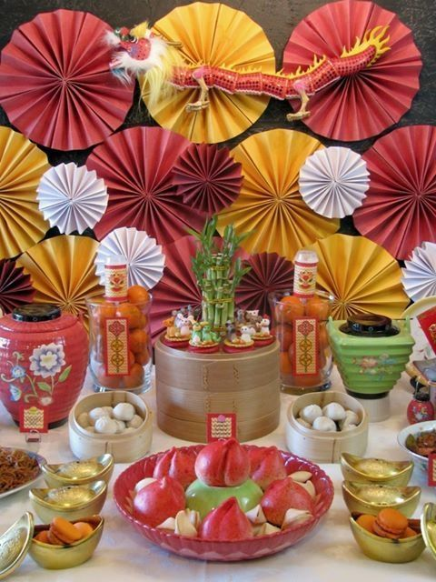 Colorful and festive Chinese New Year decoration idea that