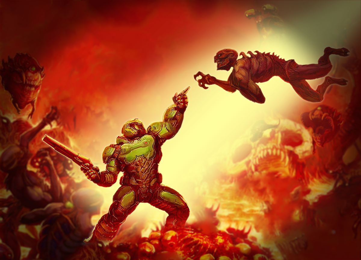 Errtwo Creation Of Doomguy Doom Videogame Doom 2016 Doom
