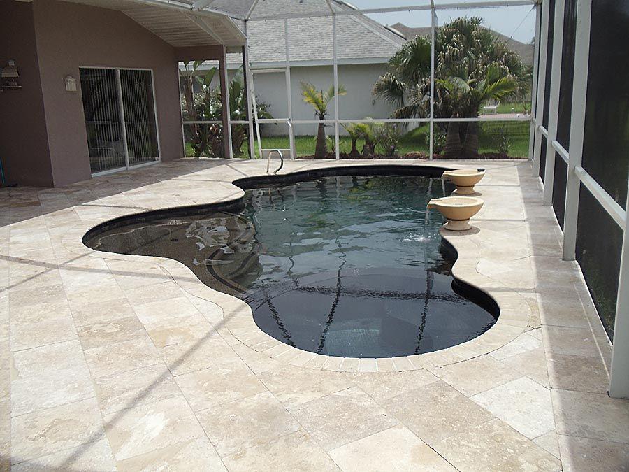 Travertine Pool Deck Same Color Coping Home Decor