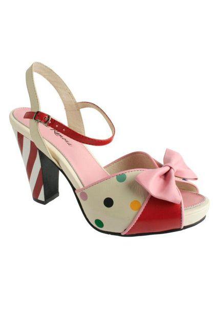 Angie sandałki różowa kokarda cukierkowy obcas 412216 Luka Bandita