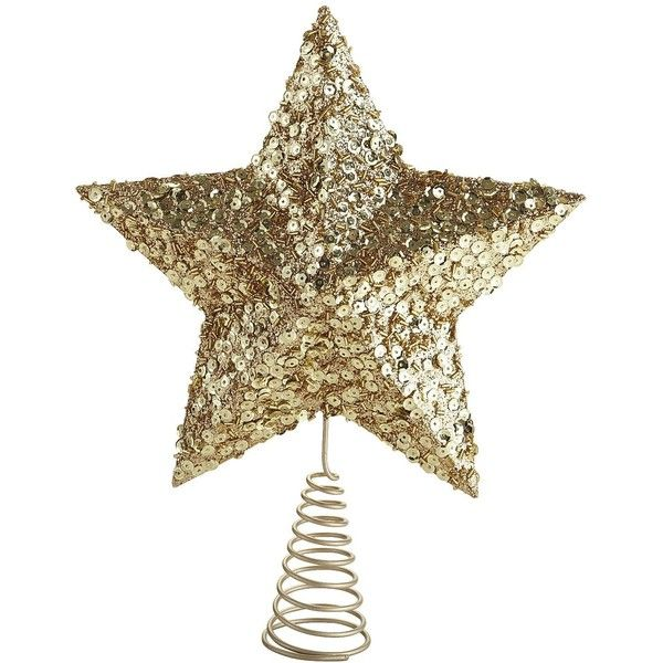 Pier 1 Imports Gold Star Tree Topper By None Via Polyvore
