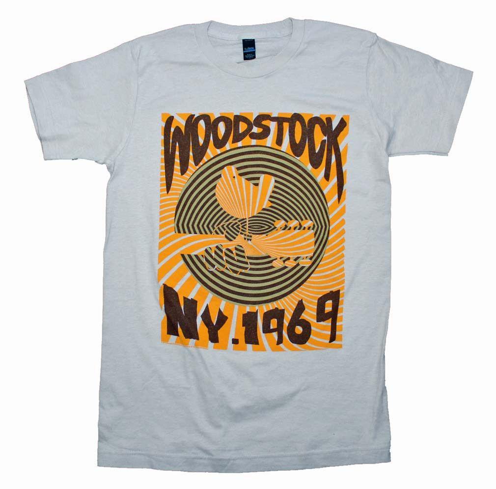 Woodstock Men's 1969 Striped Slim Fit T-Shirt