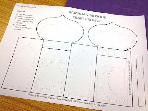 Ramadan Craft Project: Mosque-Lantern   Eid & Ramadan Ideas