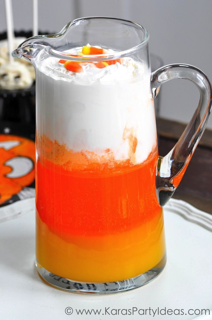 Halloween Party for Pottery Barn Kids Punch recipes, Candy corn - halloween drink ideas for kids