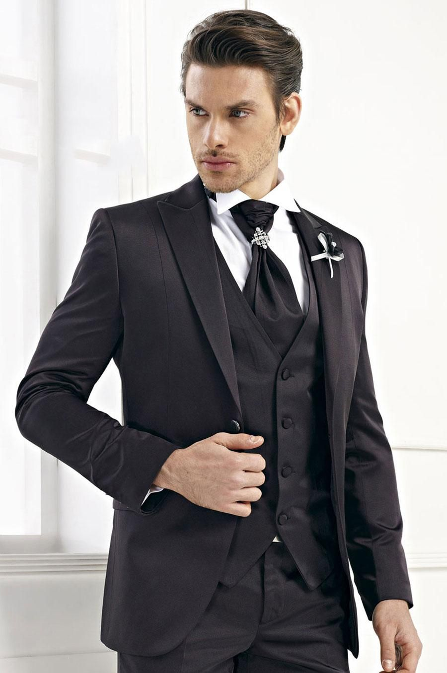Latest Coat Pant Designs Black Men Wedding Suits Terno Slim Fit ...