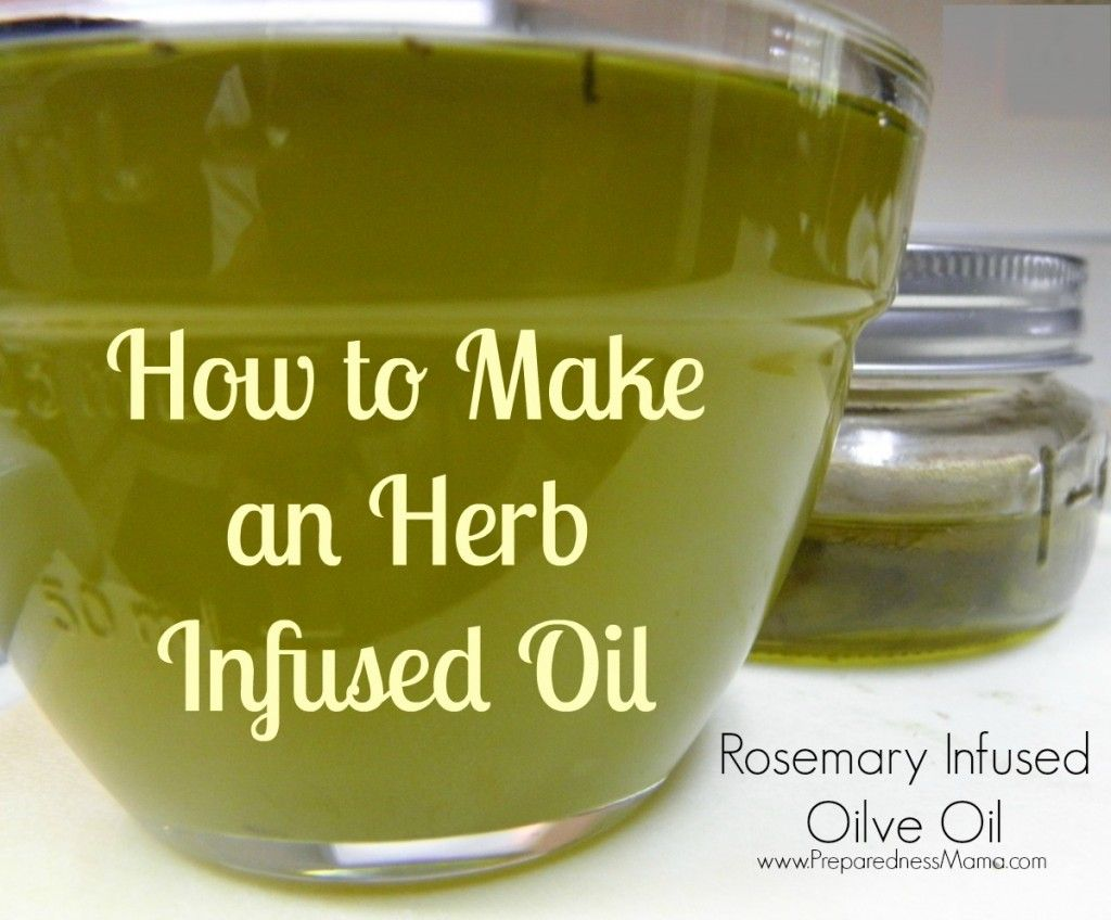 How to make an herb infused oil | PreparednessMama -- Use the bounty from your garden to make herb infused oils