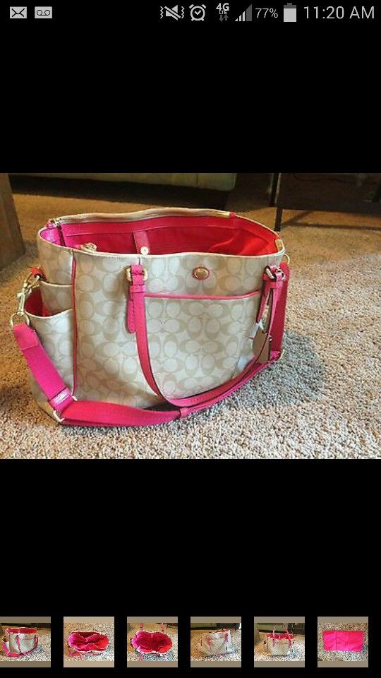 8d0c777e9f6f In love with this coach diaper bag | Scarlett | Coach baby bags ...